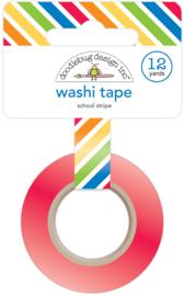 School Stripe Washi Tape - Unit of 3