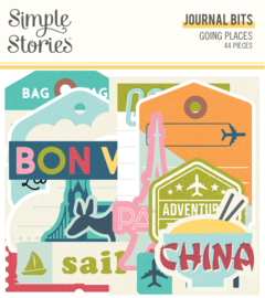 Going Places Journal Bits & Pieces - Unit of 3