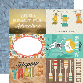 "Happy Trails 4x6 Elements Double Sided 12x12"" - Unit of 5"