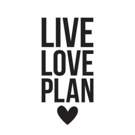 Live Love Plan Black Planner Decal - Unit of 3