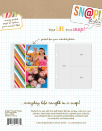 Snap Pocket Pages  2x8 & 4x4 - Unit of 6