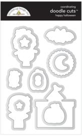 Happy Halloween Doodle Cuts - unit of 1