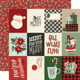 "Jingle All the Way - 3x4 Elements Double Sided 12x12"" - Unit of 5"