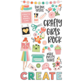 Hey, Crafty Girl 6x12 Chipboard - Unit of 3