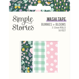 Bunnies + Blooms - Washi Tape - Unit of 3