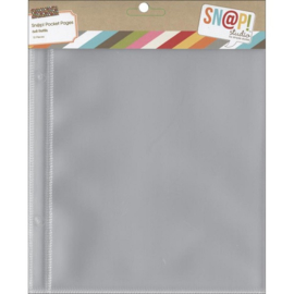 Snap Pocket Pages 6x8 - Unit of 6
