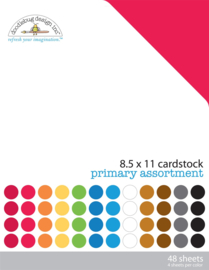 Primary 8,5x11 textured Cardstock Assortment Pack Unit of 1