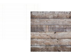 "Cedar/White Ledger Double Sided 12x12"" - Unit of 5"
