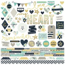 Heart Combo Stickers Sheet - Unit of 3