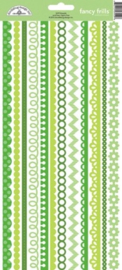 Limeade Fancy Frills Cardstock Stickers - Unit of 6
