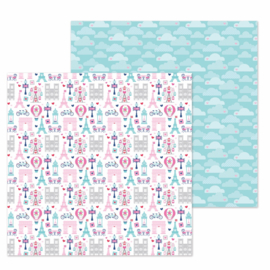 "City of Love Double Sided 12x12""  - Unit of 5"