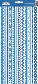 Blue Jean Fancy Frills Cardstock Stickers - Unit of 6