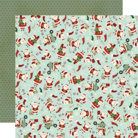 "Jingle All the Way - Santa Squad Double Sided 12x12"" - Unit of 5"