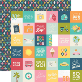 "Going Places 2x2 Elements Double Sided 12x12"" - Unit of 5"