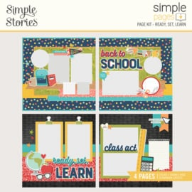 Simple Pages Page Kit - Ready, Set, Learn - Unit of 3