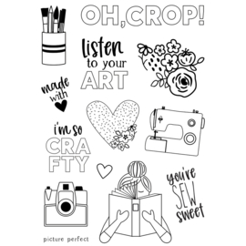 Hey, Crafty Girl 4x6 Stamps - Unit of 2