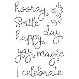Say Cheese 4 Happy Words 4x6 Stamps - Unit of 1