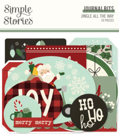 Jingle All The Way Journal Bits & Pieces - Unit of 3