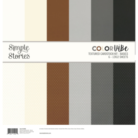 Color Vibe Textured Cardstock Kit - Basics - Unit of 3