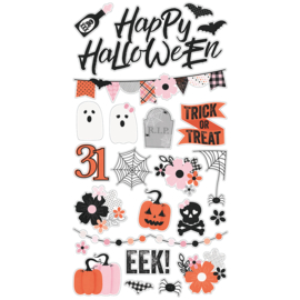 Happy Haunting 6x12 Chipboard - Unit of 3