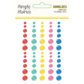 Sunkissed - Enamel Dots- Unit of 3