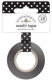 Beetle Black Swiss Dot Washi Tape Unit of 3