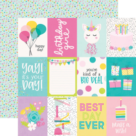 """Magical Birthday  3x4 Elements Double Sided 12x12"""" - Unit of 5"""