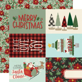 "Jingle All the Way - 4x6 Elements Double Sided 12x12"" - Unit of 5"