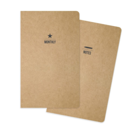 Monthly Traveler's Notebook Inserts- Unit of 3