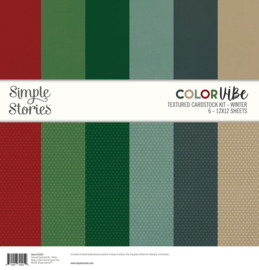 Color Vibe Textured Cardstock Kit - Winter  - Unit of 3