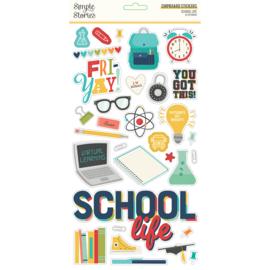 School Life - 6x12 Chipboard  - Unit of 3