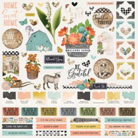 SV Farmhouse Garden - Cardstock Sticker  - unit of 3