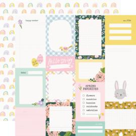 Bunnies + Blooms - Journal Elements - Unit of 5