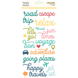 Going Places Foam Stickers - Unit of 3