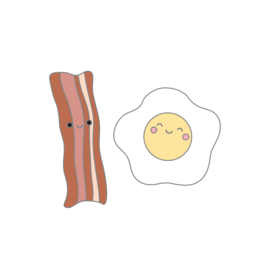 Bacon & Eggs Collectible Pin - Unit of 1