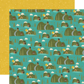 "Happy Trails Great Outdoors Double Sided 12x12"" - Unit of 5"