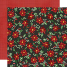 "Jingle All the Way - Jolly Holly Days Double Sided 12x12"" - Unit of 5"