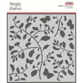 SV Cottage Fields - 6x6 Stencil - Branch & Butterfly - Unit of 3