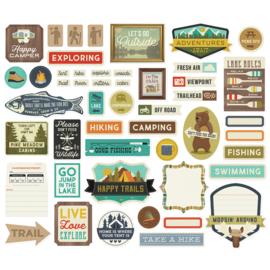 Happy Trails Journal Bits & Pieces - Unit of 3