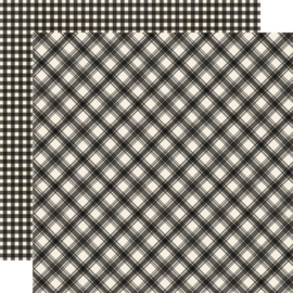 "Jingle All the Way - Coal Plaid/Gingham Double Sided 12x12"" - Unit of 5"