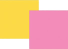"Pink/Yellow Double Sided 12x12"" - Unit of 5"
