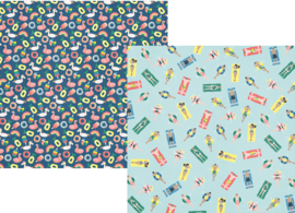 "Pool Party Double Sided 12x12"" - Unit of 5"