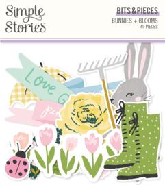 Bunnies + Blooms - Bits & Pieces - Unit of 3