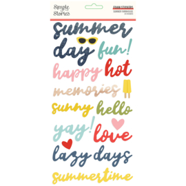Summer Farmhouse Foam Stickers - Unit of 3