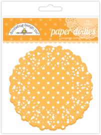Tangerine Swiss Dot Doilies - Unit of 3