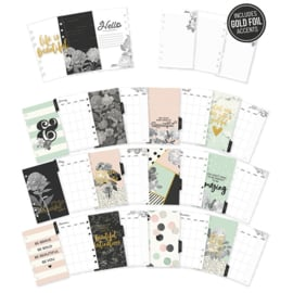 Personal Beautiful Monthly Planner Inserts- Unit of 3