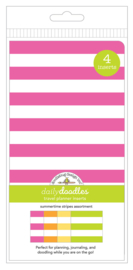 Summertime Stripes Daily Doodles Travel Planner Inserts - Unit of 1