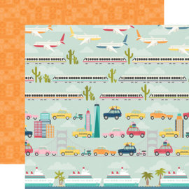 "Going Places Enjoy the Ride Double Sided 12x12"" - Unit of 5"