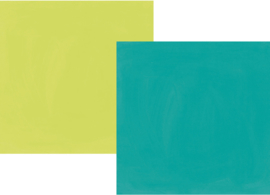 "Oh, Happy Day! Teal/Lime Double Sided 12x12"" - Unit of 5"