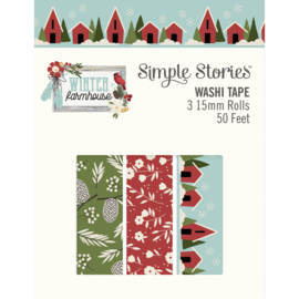 Winter Farmhouse Washi Tape - Unit of 3